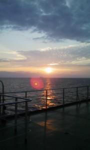 フェリーからの夕日